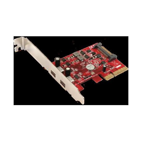 2-USB 3.1 Type C PCIe 4X Controller