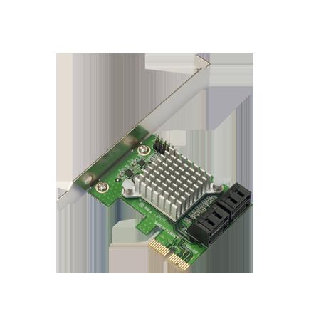 Internal 6G 4-Port SATA PCIe controller