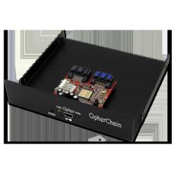 """Cipherchain-E kit on 3.5"""" drive bay bracket"""