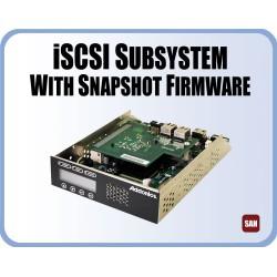 ISCSI sub system, 8 SATA ports, 2G LAN ports, 1 CHAP