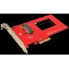 """NVMe 2.5"""" U.2 SSD PCIe adapter"""